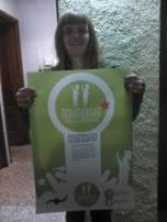 Solidaritat de la Núria Comerma, membre de la Plataforma Solidària Antirepressiva Rereguarda en Moviment.