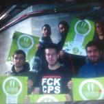 El grup musical POCA BROMA amb els Bastoners Solidaris
