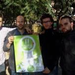 Suport del grup Rumb al Bar de la Vila de Gràcia amb els Bastoners Solidaris